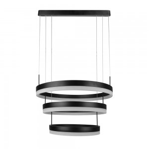 suspension ronde noire moderne