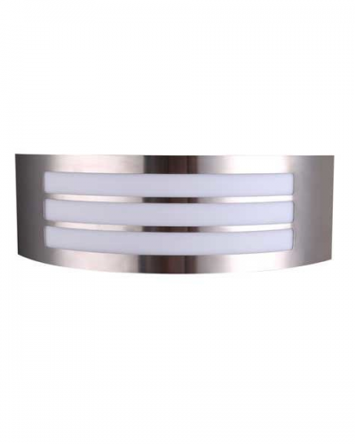 Applique acier inoxdydable IP44 1xE27